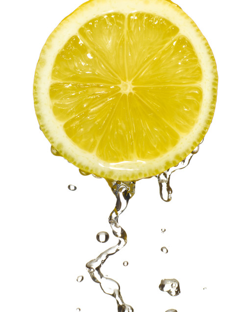 lemon, fresh, water droplets, water, citrus
