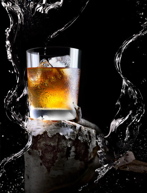 whiskey, scotch, liquor, water, liquid, ice, cocktail